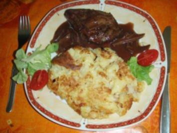 Lammrückenfilet mit Rösti und Salat - Rezept
