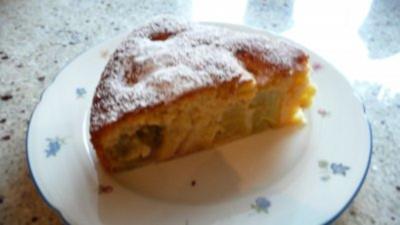 Versunkener Rhabarberkuchen - Rezept