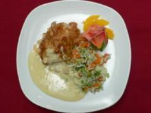 Hähnchenbrust in Mandelkruste mit Reis-Gemüse-Mischung - Rezept - Bild Nr. 2