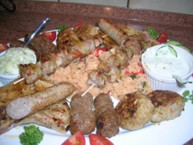 Fleisch-/Grillplatte (nicht auf dem Grill)  Pfanne+Ofen  nach meiner Art mit Djuvec Reis - Rezept - Bild Nr. 2