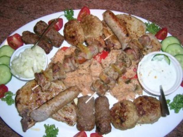 Fleisch-/Grillplatte (nicht auf dem Grill)  Pfanne+Ofen  nach meiner Art mit Djuvec Reis - Rezept - Bild Nr. 3