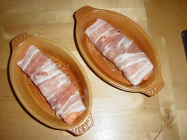 Lachs-Spargel mit Chili Hollandaise und Bandnudeln - Rezept