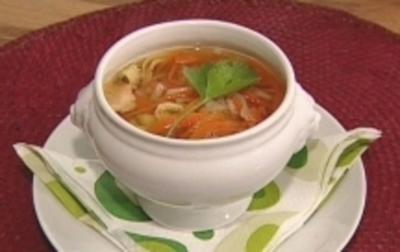 Frittatensuppe mit Bärlauch - Rezept