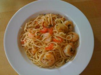 C1: Bärlauch-Scampi-Spaghetti - Rezept