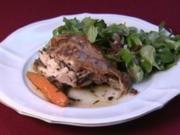 "Fly Robin Fly"" Mariniertes Maronen-Landhähnchen (Linda Thompson) - Rezept"