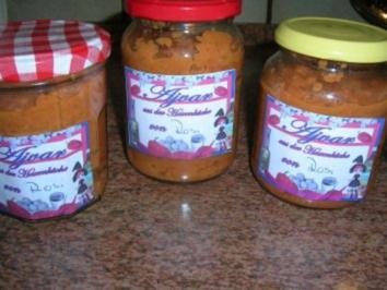 Ajvar - die total leckere Beilage zu so vielem, besonders zur Balkanküche  (meine Variante - Rezept