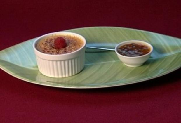Tonka-Crème brûlée mit Passionsfrucht (Marie Amière) - Rezept