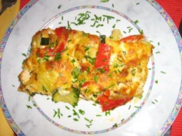 Buntes Gemüse-Kartoffel-Gratin - Rezept