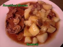 Roastbeef-Braten mit Stockschwämmchen - Rezept
