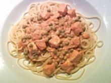 7 - Minuten - Lachs - Sauce zu Pasta - Rezept
