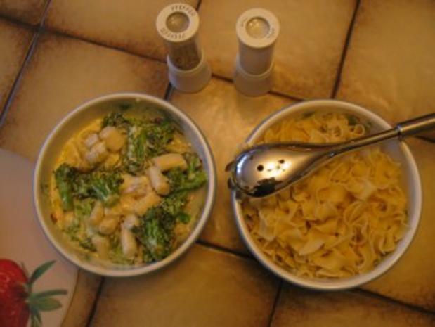 Spargel mit Brokkoli und Bandnudeln - Rezept - Bild Nr. 6