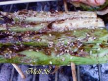 Grillen: Gegrillte Spargelflöße - Rezept