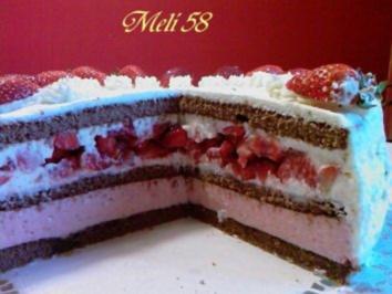 Backen: Erdbeer-Mascarpone-Sahnetorte - Rezept