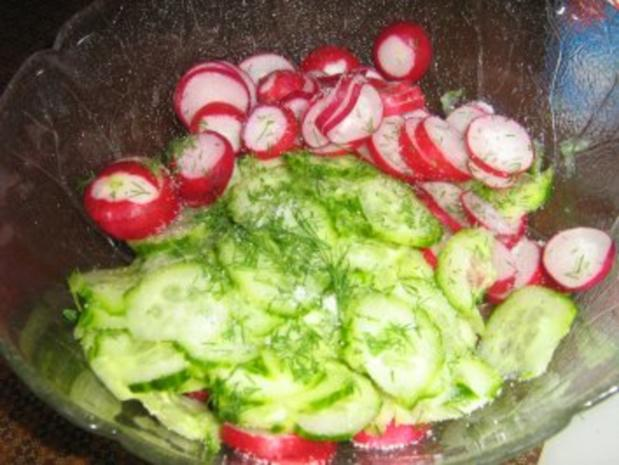Gurkensalat mit einer Dill-Rahm-Sauce - Rezept - Bild Nr. 3