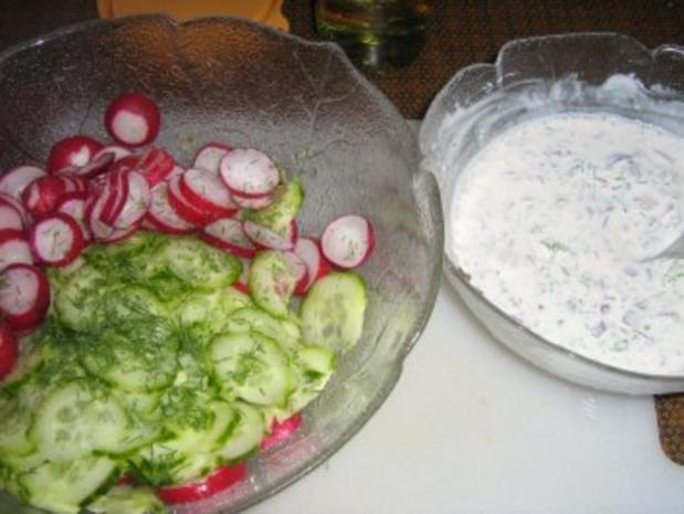Gurkensalat mit einer Dill-Rahm-Sauce - Rezept - Bild Nr. 4