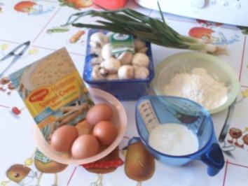 Gefüllter  Eierkuchen - Rezept