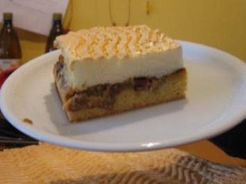 Rhabarberkuchen mit Tröpfchen - Rezept