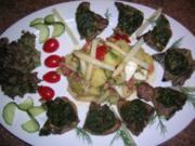 Lammkoteletts mit Bärlauchkruste an Spargel-Kartoffelsalat - ein kleiner Frühlingsgruß - Rezept