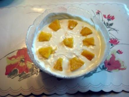 Quark mit Ananas - Rezept