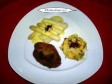 Kleine Schnitzelchen vom Filet mit Parmesan in der Panade - Rezept