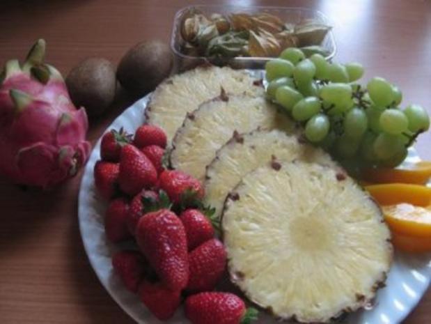 Obstkuchen mit exotischen Früchten. - Rezept - Bild Nr. 2
