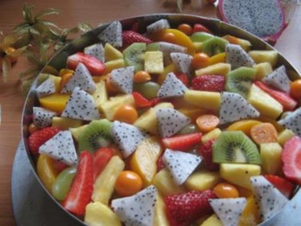 Obstkuchen mit exotischen Früchten. - Rezept - Bild Nr. 4