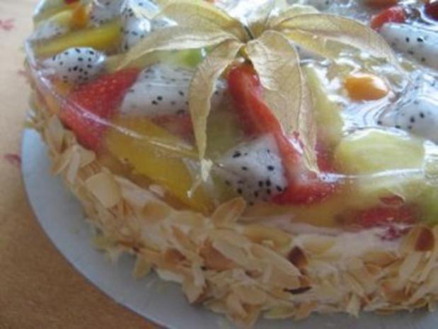 Obstkuchen mit exotischen Früchten. - Rezept - Bild Nr. 5