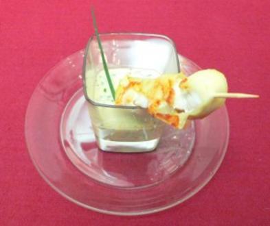 Fischspieße im Kartoffelmantel mit Kräuter-Senfsoße - Rezept - Bild Nr. 2