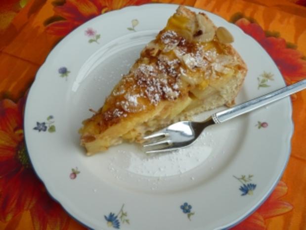 Apfelkuchen mit Pudding - Rezept