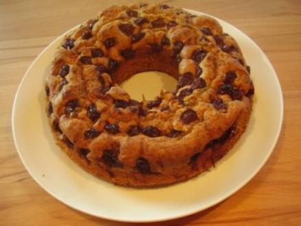 Marmorkuchen mit Mohn und Kirschen - Rezept