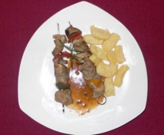 Fleischspieß an Rosmarin und Rotweinsoße und Gnocchi à la Franca - Rezept - Bild Nr. 2