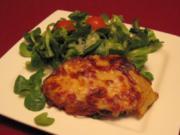 Hessische Kartoffelplätzchen im Feldsalat-Bett - Rezept - Bild Nr. 2