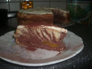 Schoko-Pfirsich-Biskuit - Rezept