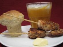 Karotten-Ingwer-Capuccino mit Lachsspießen und herzhaften Brotmuffins - Rezept - Bild Nr. 2