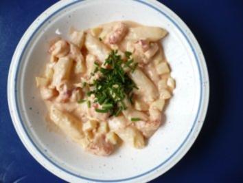 Spargel - Salat mit Flusskrebsen - Rezept