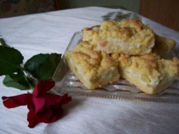 Rezept: Rhabarber-Pudding-Streusel