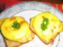 Hähnchenbrustfilet Hawaii auf Toast überbacken - Rezept