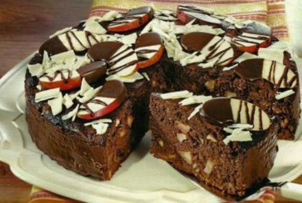 Schokoladen-Apfel-Torte - Rezept
