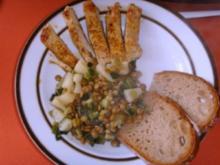 Putenschnitzel auf Ananas Linsen - Rezept