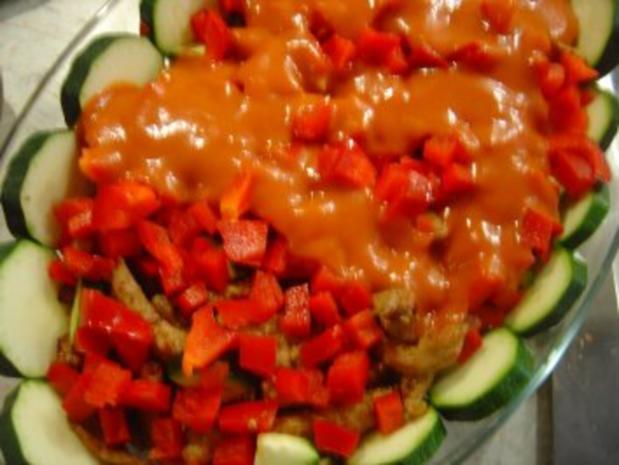 Gyros-Auflauf mit Weinbrand-Tomaten-Rahmsauce - Rezept - Bild Nr. 6