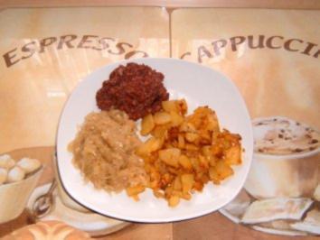 Bratkartoffeln mit Sauerkraut und Kölner - Rezept