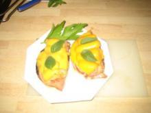 Snacks - Tostato Panini con prosciutto, asparagi e formaggio – geröstete Brötchen - Rezept