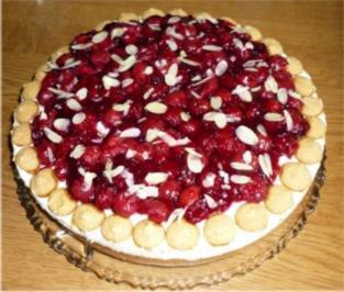 Amaretti-Kirsch-Kuchen - Rezept