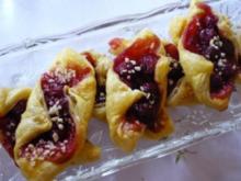 Blätterteig-Kirsch-Teilchen - Rezept