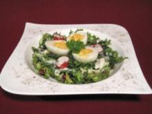 Pikant gefüllte Eier auf Salat - Rezept - Bild Nr. 2