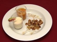 Ziegenkäsesuppe und Karotten-Ingwersuppe (Lucy Diakovska) - Rezept