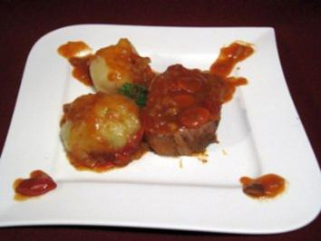 Krustenbraten mit Tomaten-Zwiebel-Gemüse - Rezept - Bild Nr. 2