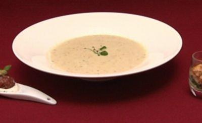 Mamas Sellerie-Schaumsüppchen an Parmesan-Oblaten (Detlef D!) - Rezept
