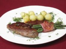 Lammrückenfilet mit Thymiansoße an Prinzessbohnen in Speck - Rezept - Bild Nr. 2