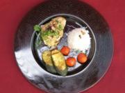Rotbarschfilet mit Sesamsoße und gerösteten Pinienkernen - Rezept - Bild Nr. 2